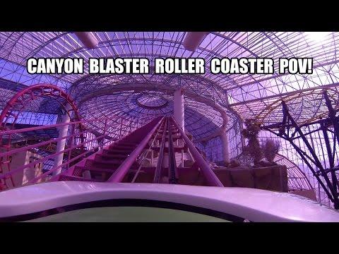 Canyon Blaster Roller Coaster POV Adventuredome Las Vegas
